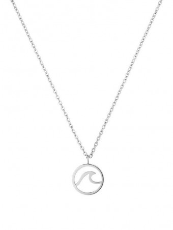 Wave Shaped Ring Design Pendant Necklace