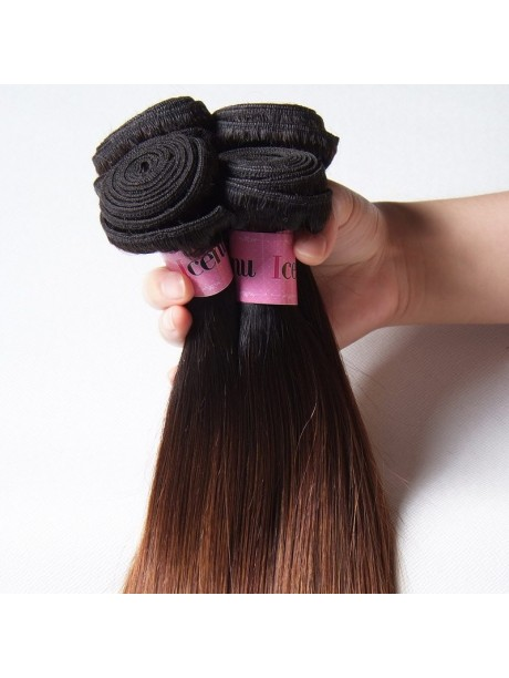Unice Ombre On Straight Hair 7a Grade Straight Hair Bundle 1 Peice
