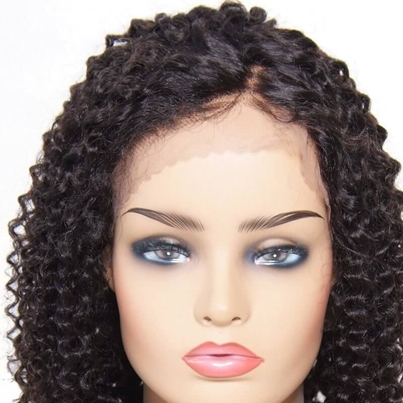 AfricanMall Deep Wave Lace Front Human Hair Wig High Quality Lace Front Wigs With Baby Hair