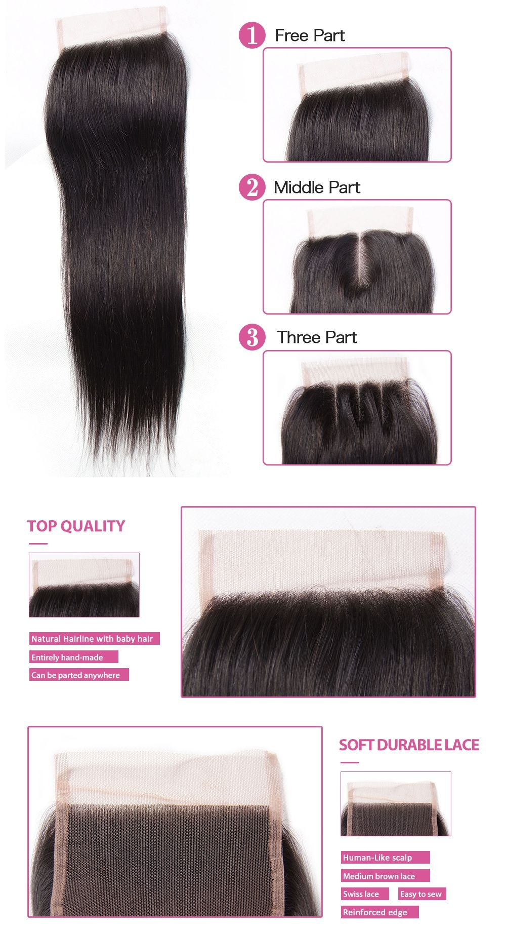 hair weave with lace closure,virgin human hair bundle with closure