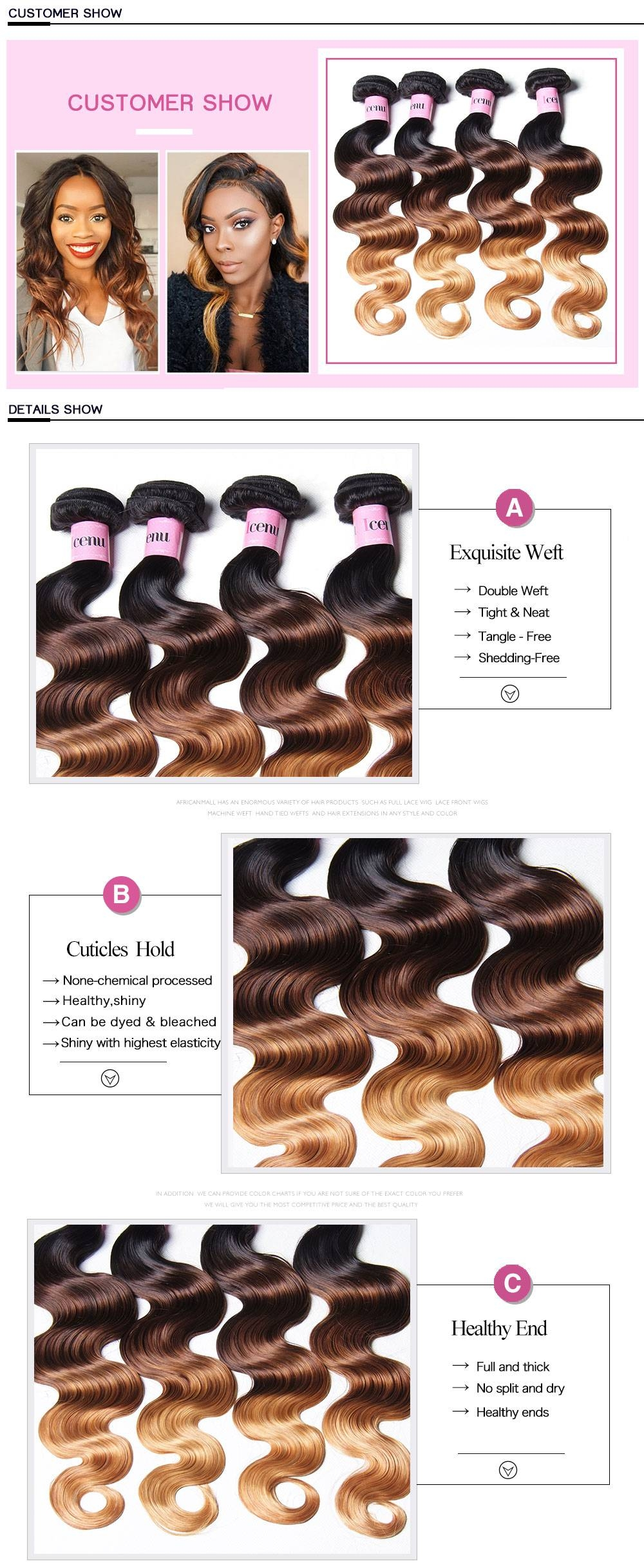 ombre hair extensions,ombre hair 3 colors,ombre hair wefts