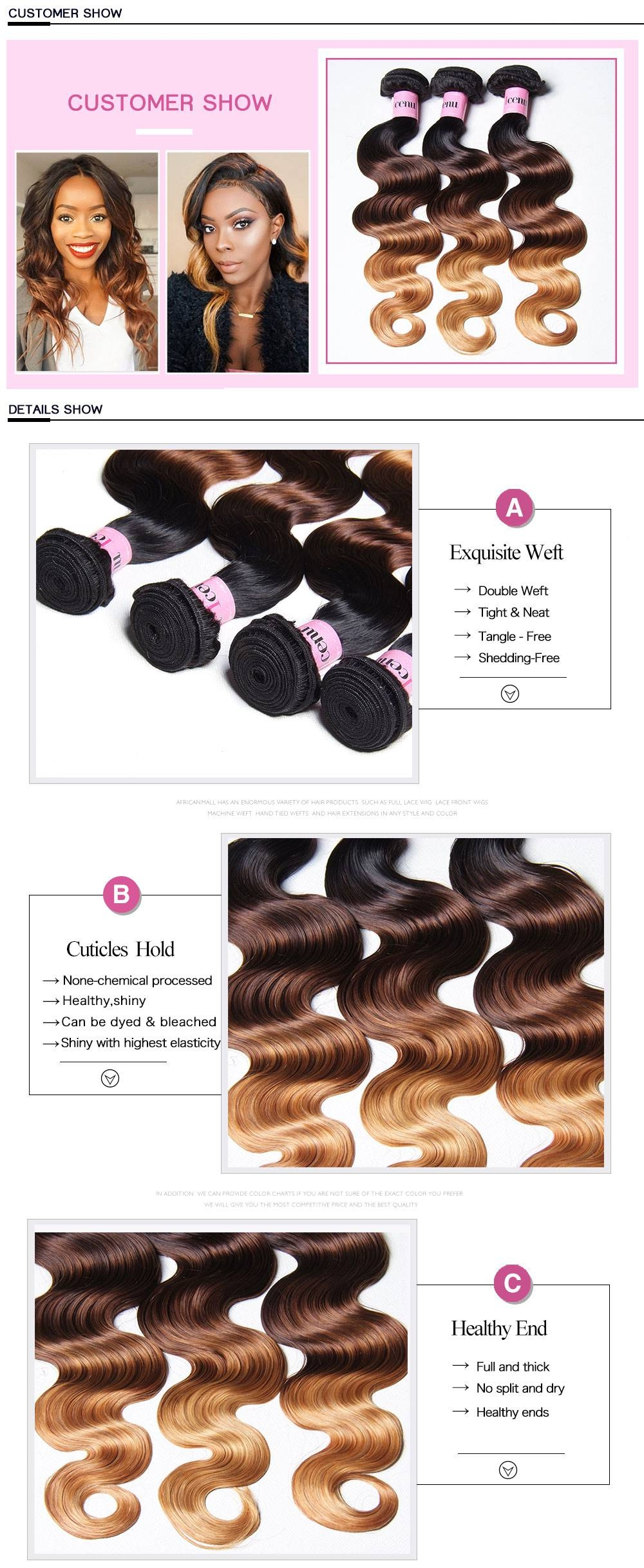 ombre hair,ombre hair weave extensions,virgin malaysian body wave