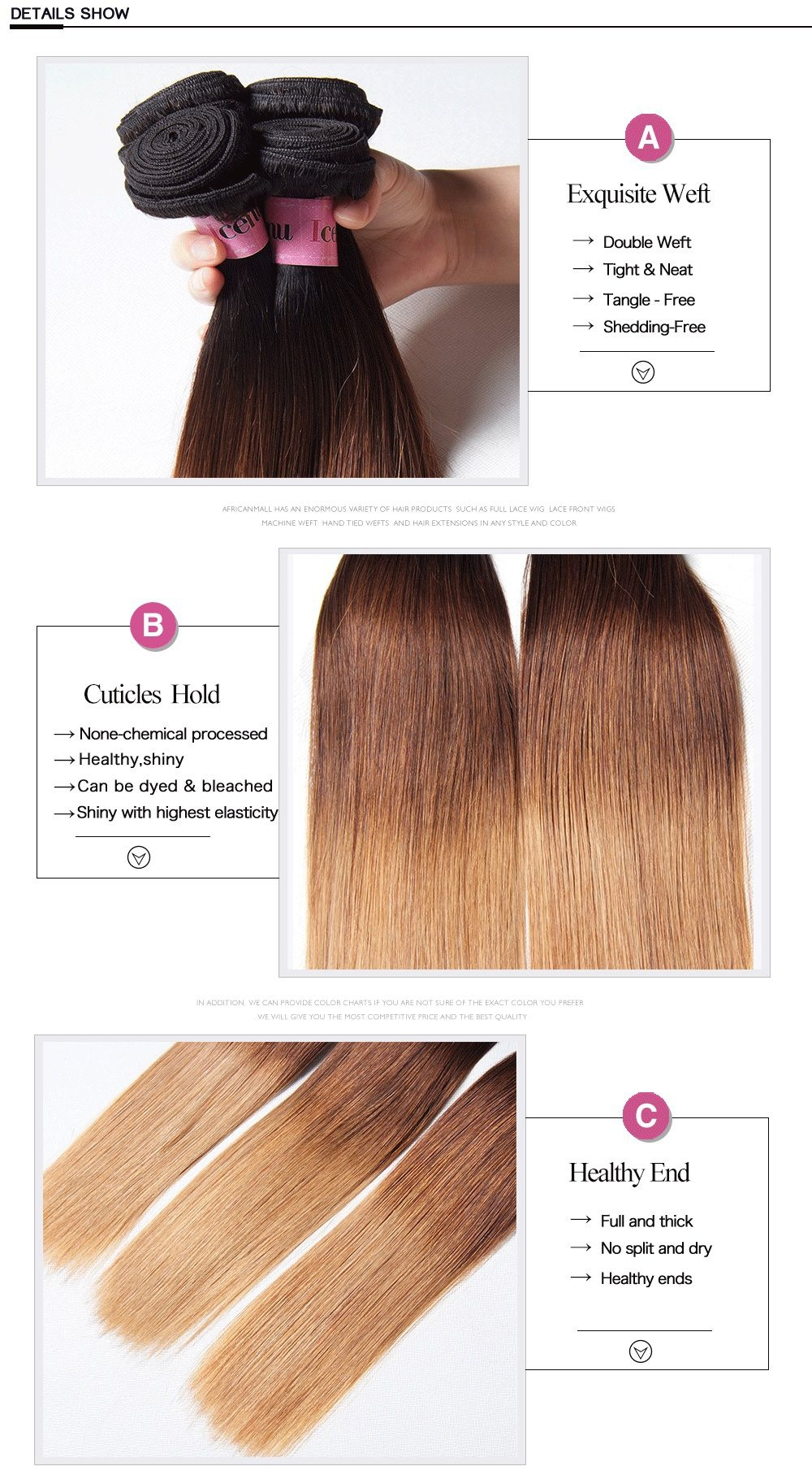 straight ombre human hair unice