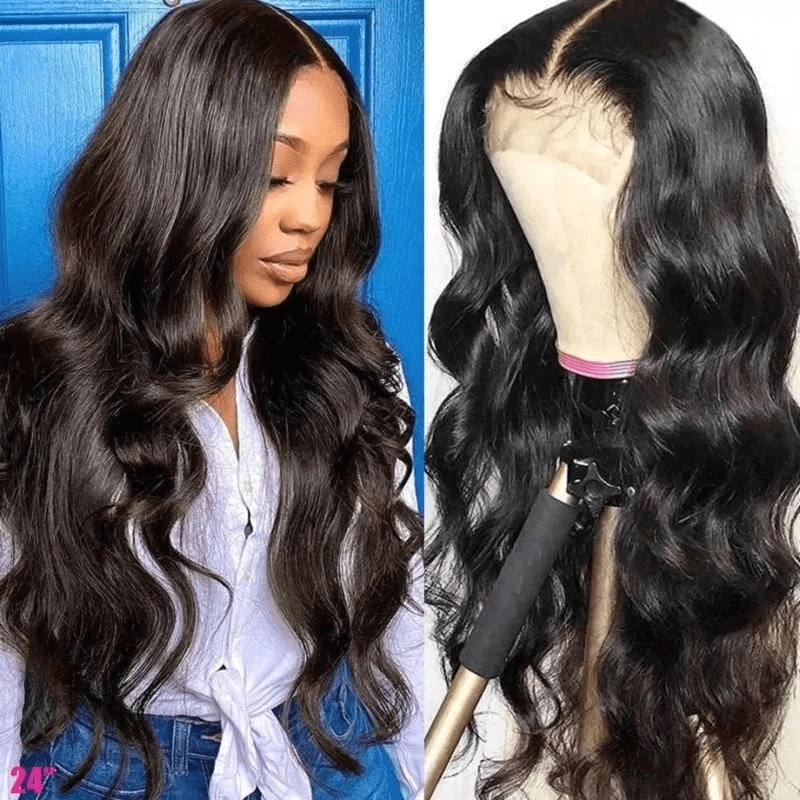 AfricanMall Lace Front 100% Human Hair Jerry Curly Wig