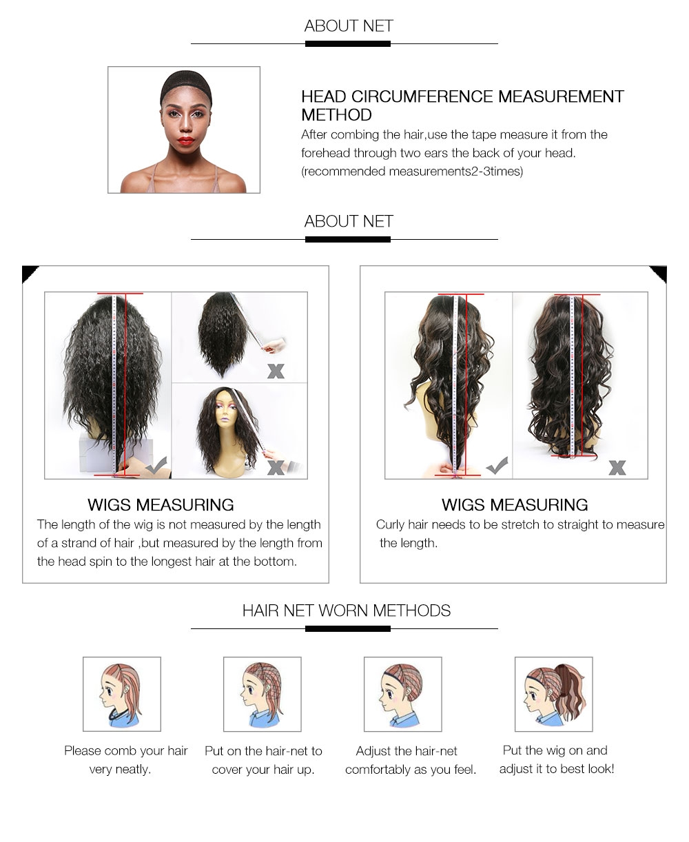 AfricanMall 8''-24'' Lace Front Body Wave Human Hair Wigs