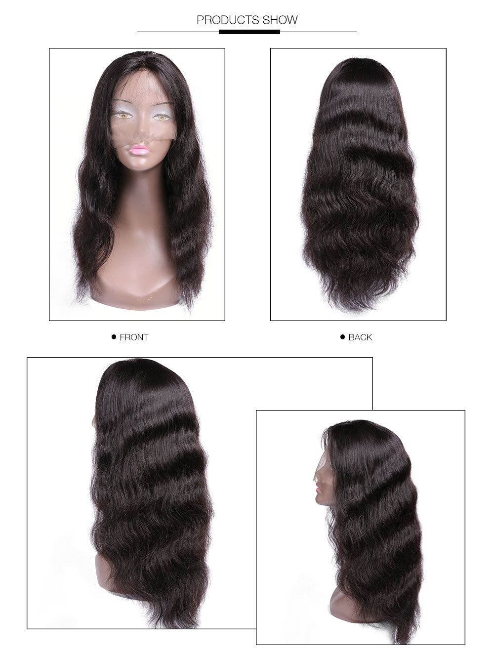 UNice Lace Front 14''-26'' Human Hair Body Wave Wig